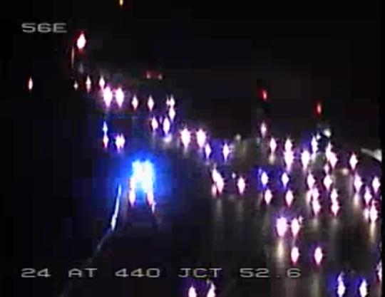 Police crews on scene of a fatal crash on I-24 near I-440 Wednesday, Jan. 15 in south Nashville.