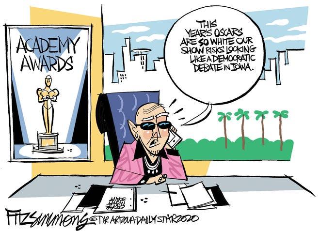 Democrats' debate white like Oscars.
