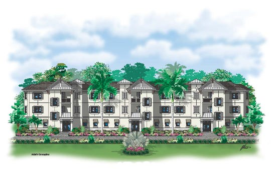 An artist's rendering of Antilles multi-plex that is under construction on King Fisher Lake with British West Indies design.