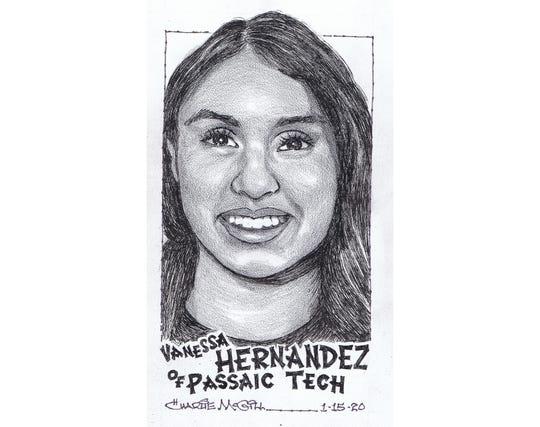 Vanessa Hernandez, Passaic Tech swimming