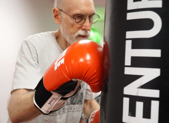 Richard Riggs works out at the Recovery Project on Jan. 15, 2020.