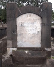 The final resting place of Don Francisco Moreno in St. Michael's Cemetery in downtown Pensacola.