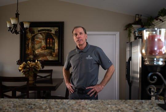 A portrait of Nick Calvi (founder Tweener Homes), January 7, 2020, in one of his Tweener rentals, Phoenix, Arizona.