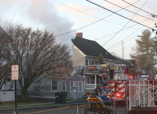 Multiple agencies respond to a structure fire on West Street in the Village of Wappingers Falls on January 15, 2020.