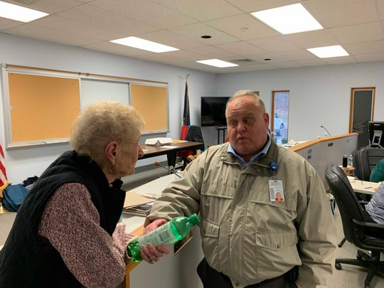 York County Commissioner Ron Smith visited polls during the special election Tuesday for the 48th state Senatorial District.