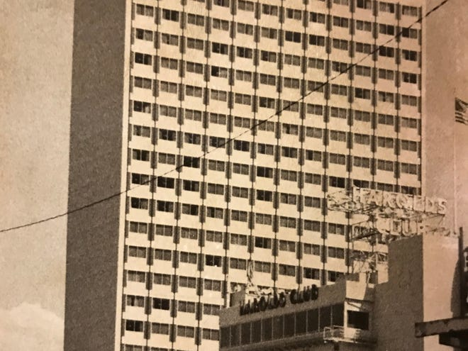 An old photo of the Harrah's Reno hotel-casino from Aug. 17, 1973.