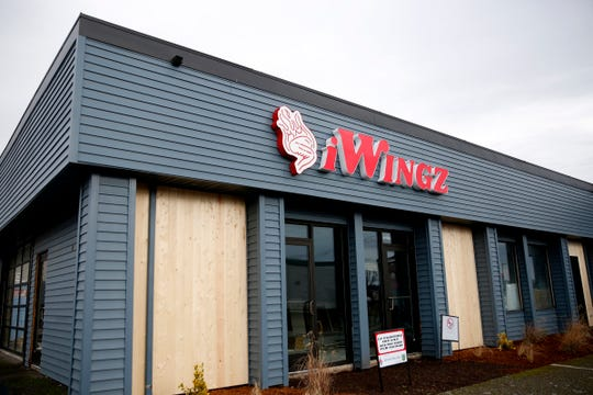 iWingz, a new restaurant and neighboring arcade, under construction near 25th and McGilchrist St. SE in Salem on Jan. 15, 2020.