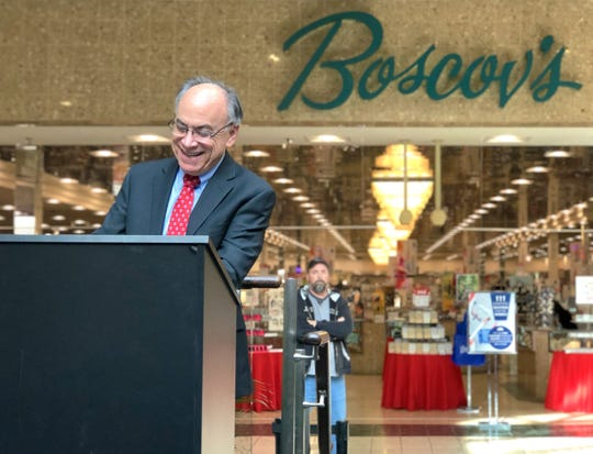 Jim Boscov, Boscov's Chairman and CEO, announces upcoming renovations to the Salisbury store on Wednesday, Jan. 15.