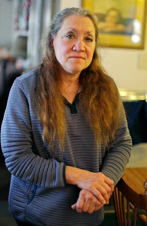 Kathleen Nickel, of Sheboygan, says she was misled by Kohler officials about her employment at the company, Wednesday, Jan. 15, 2020, in Sheboygan, Wis.