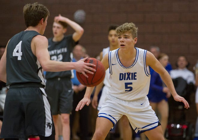 Dixie High School basketball defeats Pine View High 45-43 in overtime Tuesday, Jan. 14, 2020.