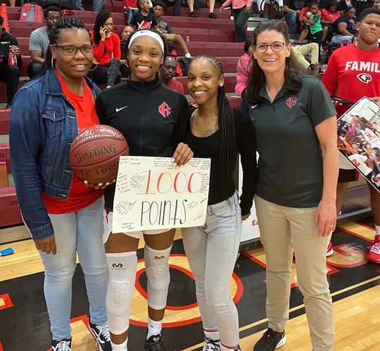 North Florida Christian senior guard Alexsis Thomas crossed the 1,000-career point mark against Munroe, scoring a career-high 31 points.