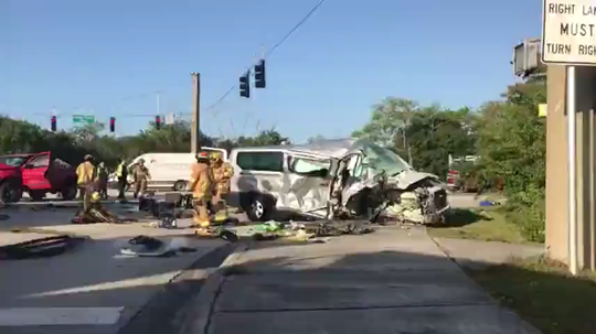 Vero Beach police and Indian River County Fire Rescue responded to a crash at the base of the Barber Bridge Jan. 15, 2020.
