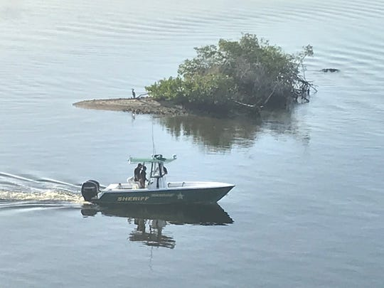 The Indian River County Sheriff's Office marine unit surveys the waterways on the C-54 Canal on Wednesday, Dec. 15, 2020. A 70-year-old man was found dead next to a kayak, according to deputies.