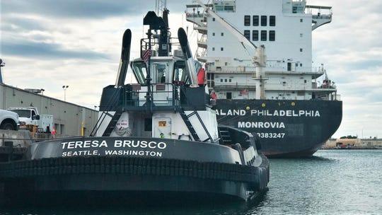 The Teresa Brusco tug promises to cut emissions drastically at the Port of Hueneme.