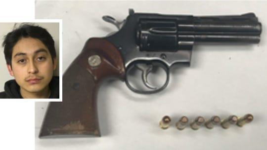 Joel Lemus and confiscated gun