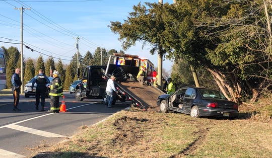 Franklin Township Police are investigating a collision along Main Road where two people were reported injured.