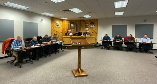 The Merrill City Council meets on Jan. 14, 2020.