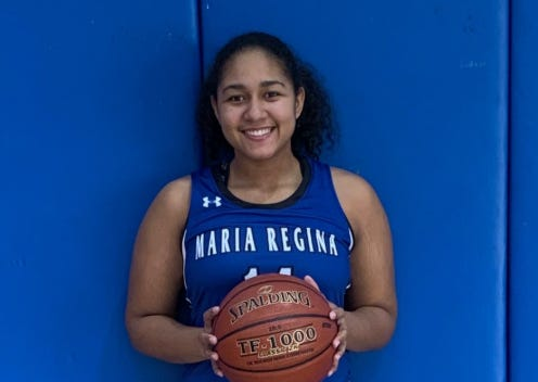 Maria Regina forward Shamoni Berrios averaged 20 points and 12 rebounds over three games last week and was voted lohud player of the week.