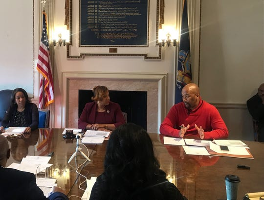 The Mount Vernon Board of Estimate and Contract meets on Jan. 15, 2020. From left, Comptroller Deborah Reynolds, Mayor Shawyn Patterson-Howard and Councilman Derrick Thompson, who was sitting in for Council President Lisa Copeland.