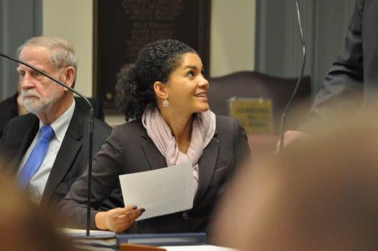 Sen. Tizzy Lockman, D-Wilmington West, sits on the Delaware Senate floor on Jan. 15, 2020.