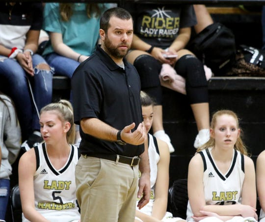 Rider's Kendall Webb is the Red River 22 Coach of the Year after leading the Lady Raiders to the Region I-5A Tournament.