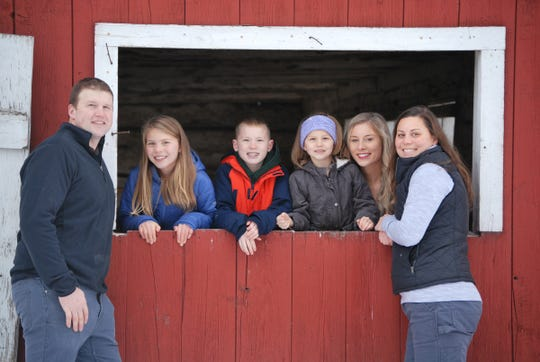 Phil Finger, along with his children, Alisa, 9, PJ, 10, Alivia, 6, Alana, 18 and wife, Laura Finger.