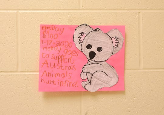 One of the posters produced by Selina Emerson's first-grade class at Dresden Elementary School.