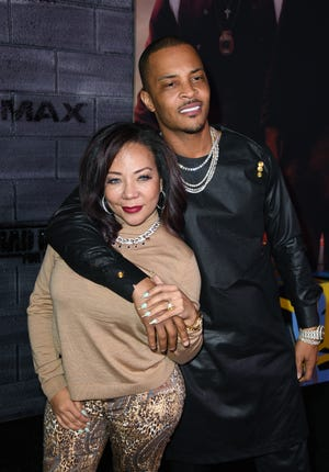 "Rapper T.I. and wife Tameka ""Tiny"" Cottle"