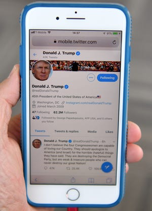 President Donald Trump's Twitter account, as pictured on July 21, 2019.