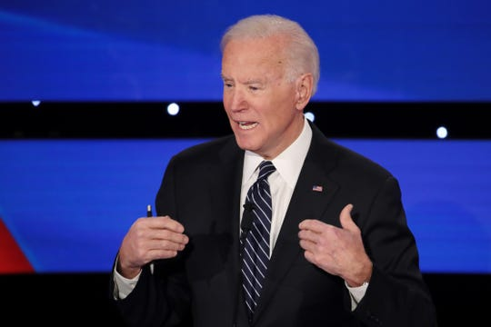 Former Vice President Joe Biden receives a positive rating on all seven key traits of leadership, including keeping promises, honesty and trustworthiness and having a vision for the country.