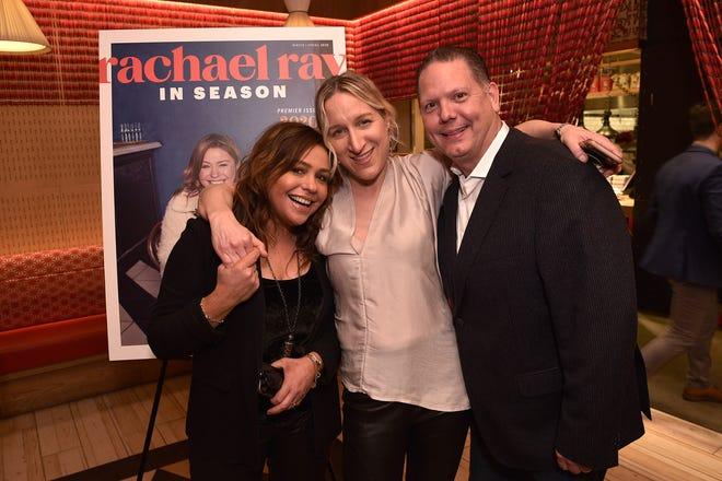 Rachael Ray, editor-in-chief Lauren Ionatti and Meredith magazine division President Doug Olson celebrate the launch of Rachael Ray In Season magazine in January 2020 in New York City.