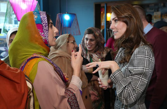Duchess Kate meets representatives from the U.K. Women's Muslim Council on Jan. 15, 2020.