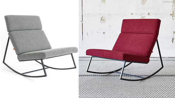 This modern rocker comes in three colors.