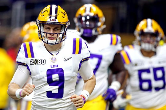 LSU quarterback Joe Burrow is about to be the first pick in the next NFL draft.