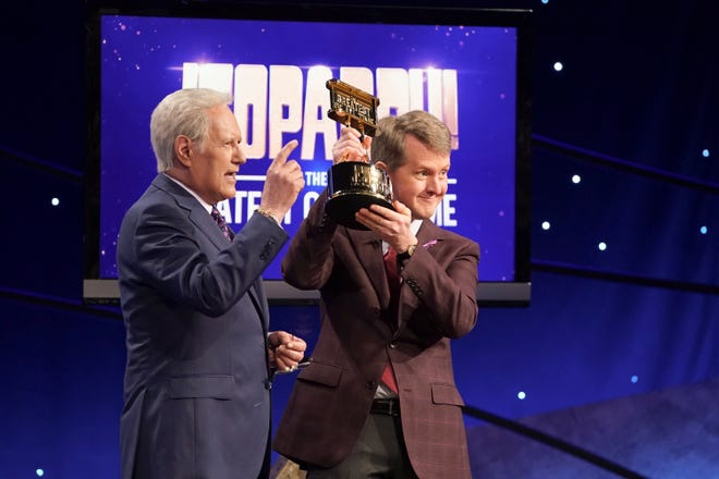 JEOPARDY! THE GREATEST OF ALL TIME - On the heels of the iconic Tournament of Champions, ÒJEOPARDY!Ó is coming to ABC in a multiple consecutive night event with ÒJEOPARDY! The Greatest of All Time,Ó premiering TUESDAY, JAN. 7 (8:00-9:00 p.m. EST), on ABC.  (ABC/Eric McCandless)ALEX TREBEK, KEN JENNINGS