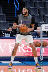 Lakers forward Anthony Davis has not played since Jan. 7.