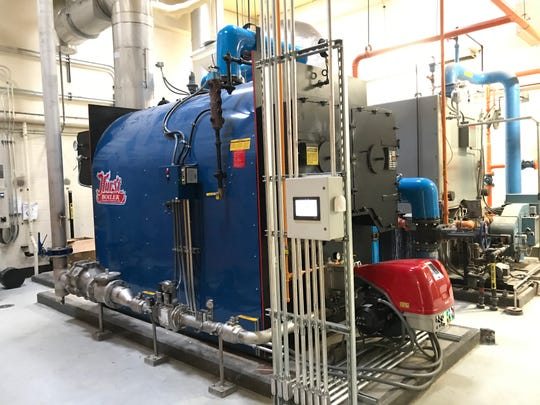 A new biogas boiler at the Appleton wastewater treatment plant will reduce the use of natural gas, saving more than $100,000 annually.
