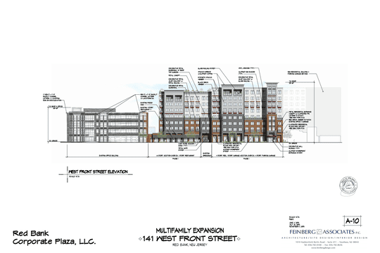 PRC Group has proposed adding 150 residential apartments at Red Bank Corporate Plaza.