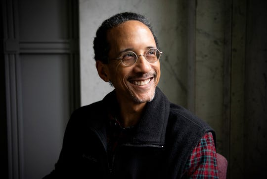 J.R. Reynolds from the Battle Creek Coalition for Truth, Racial Healing, and Transformation (TRHT) sits for a portrait on Thursday, Jan. 16, 2020 at the Battle Creek Enquirer in Battle Creek, Mich.