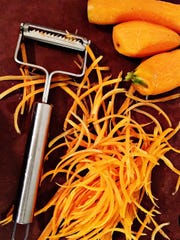 A julienne slicer is a fun way to get vegetables ready quick steaming