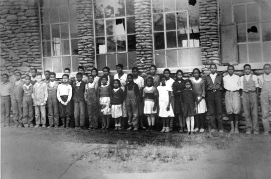 Prior to the 1940s, the two-room Carver Elementary School (possibly also known as Clearview Elementary) was built in the present location of the Carver Community Center. In 1942, the building was replaced by a stone structure seen in this photograph from the SwannanoaValleyMuseum & History Center's collection.