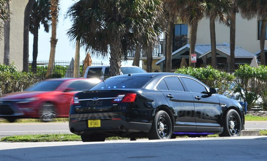 Officer Austin Cocchiola pulling a speeder over on A1A.  Satellite Beach Police Department is hiring two more officers and a dispatcher, hopefully by mid-summer. The department plans to be able to increase the patrolling of State Road A1A following the the tragic crosswalk death of 12-year-old Sophia Nelson.