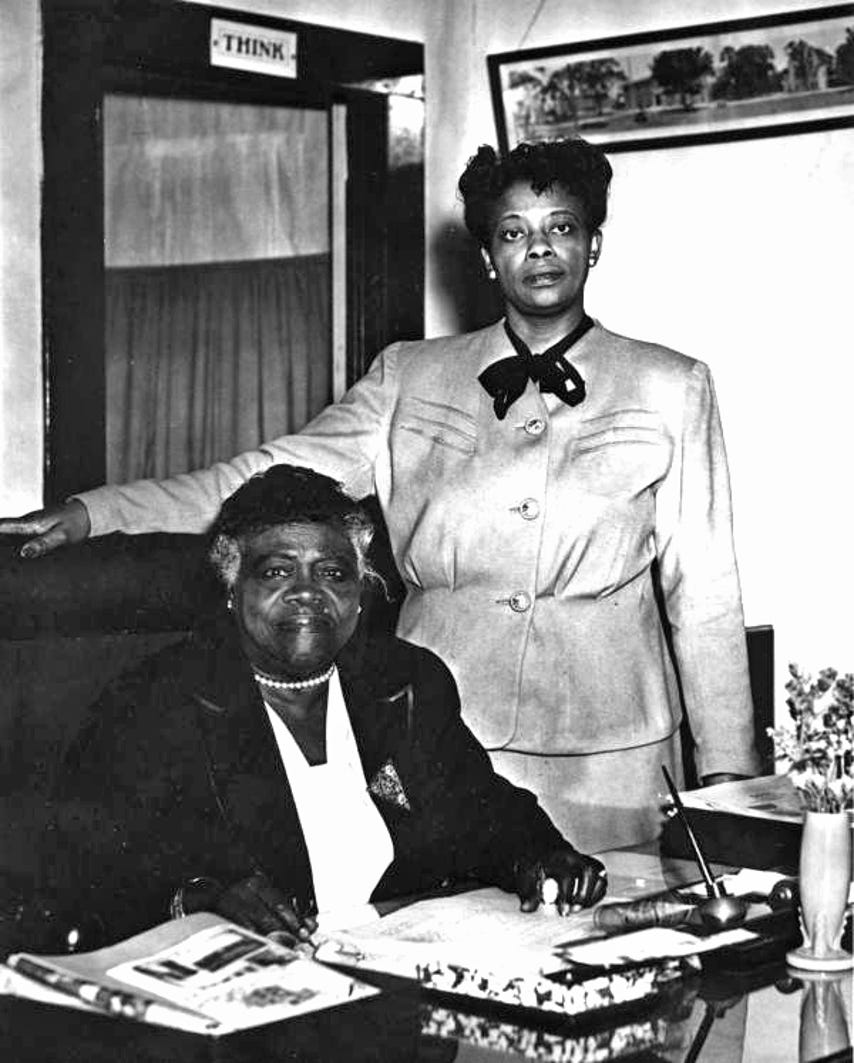 Mary McLeod Bethune at her desk in White Hall some time in the 1940s at Bethune Cookman University in Daytona Beach. Bethune served as President from 1931-42.