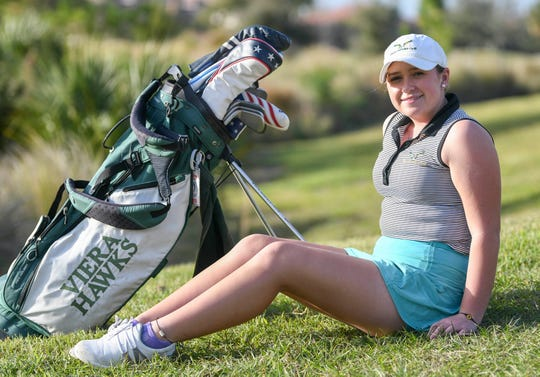 Briana Gabe of Viera is the girls golf Athlete of the Year for 2019.