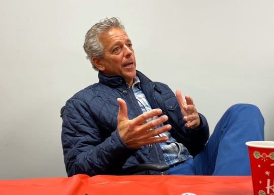 Fox broadcaster Thom Brennaman met with local media members at WBEX Studio in Chillicothe, Ohio for the Reds Caravan Tour on Jan. 16, 2020.