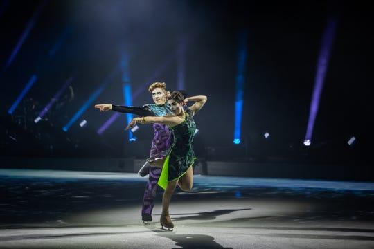 Joe and Katrina in Cirque du Soleil: Axel.