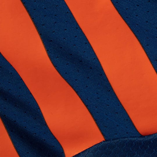 A teaser photo released by FC Cincinnati on its social media platforms Jan. 16. This image is believed to be a photograph of the right shoulder on the new home jersey.