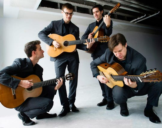 The Canadian Guitar Quartet will take the stage in concert at 5 p.m. on Sunday, Jan. 26, at St. Paul's Episcopal Church in Westfield. Tickets are $25; $10 students, and are available at the door and online at www.steepleconcerts.org.
