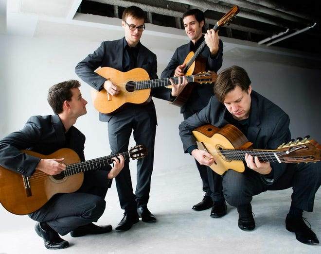 The Canadian Guitar Quartet will take the stage in concert at 5 p.m.on Sunday, Jan.26, at St. Paul's Episcopal Church in Westfield. Tickets are $25; $10 students, and are available at the door and online at www.steepleconcerts.org.