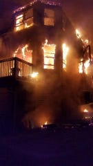 The fire is believed to have started in the back of the 2 1/2 story structure.